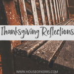 Thanksgiving Reflections