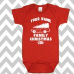 Custom Christmas Vacation Baby onesie