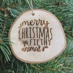 wood slice christmas ornament