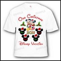 disney vacation christmas family customized shirt
