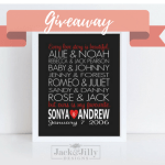 CELEBRATE YOUR LOVE STORY GIVEAWAY WITH JACK & JILLY DESIGNS
