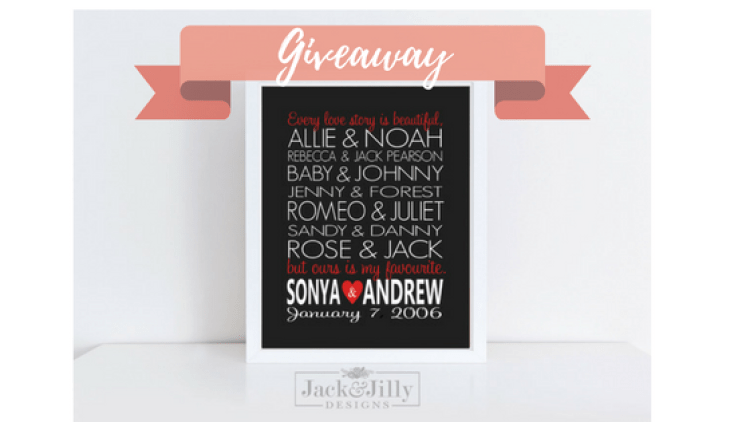 celebrate your love story giveaway with jack and jilly designs