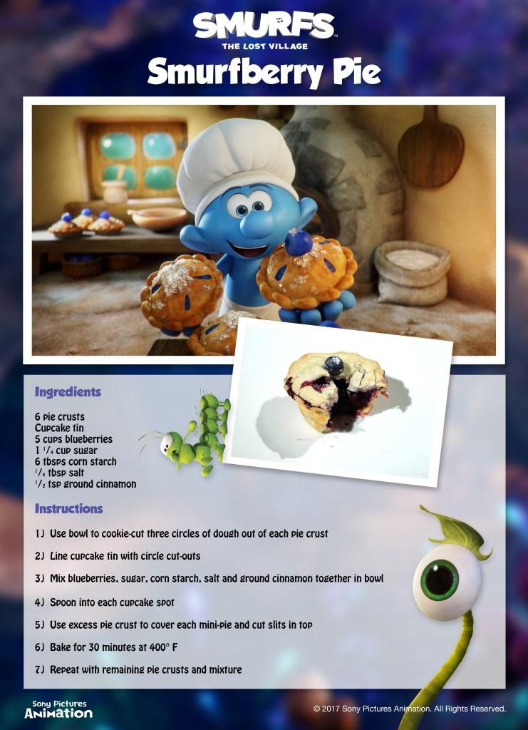 Smurfberry Pie Recipe Smurfs The Lost Village Baking