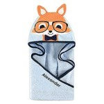personalized children's towel fox wedding star