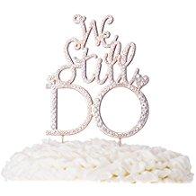 Vow Renewal | We Still Do Rose Gold Cake Topper | Beach Wedding | Symbolic Ceremony