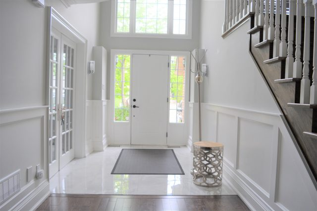 White Dahlia Design Services | Stress Free Interior Design for Families | Front Entryway | House of Kerrs