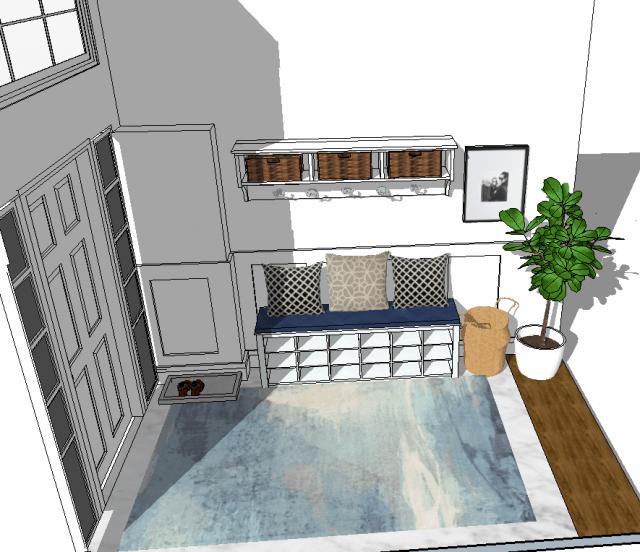 White Dahlia Stress Free Interior Design   House Of Kerrs   Front Entryway