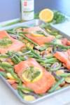 sheet pan cooking | lemon garlic salmon and veggies | healthy meals | ww freestyle