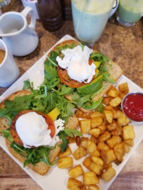 The Pottery Blue Mountain Breakfast menu | Avocado Toast with Poached Egg