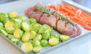 Balsamic Glaze Pork + Roasted Veggies | Sheet Pan Recipes | La Cucina di Kerrs | Quick Prep Meals