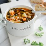 Turkey Sausage, White Bean Kale Soup | Turkey Leftover Recipes | Indigo Fall Collection | Indigo Faves Giveaway