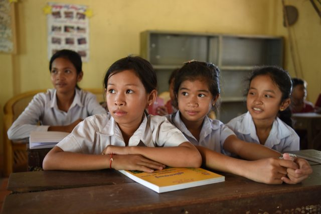 Girls in School Cambodia World Vision Canada