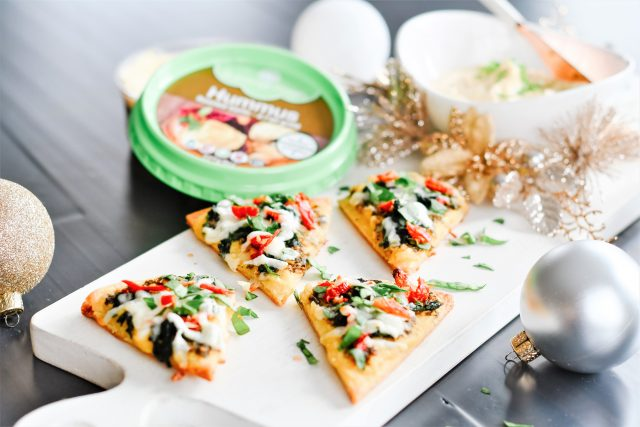Christmas Appetizer | Naan with Hummus