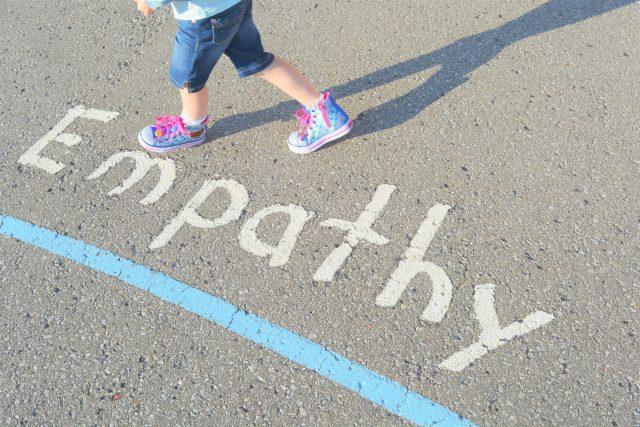 empathy on pavement message chalk your walk