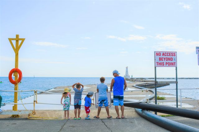 Cobourg Beach Marina Family Travel Ontario Local love
