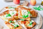 Peach Pizza Bianca with Herbed Ricotta Recipe | HouseofKerrs.com