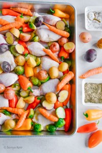 Sheet pan chicken and vegetables how to make