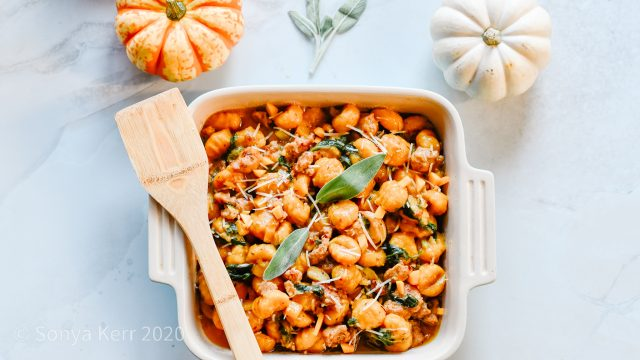Butternut Squash Gnocchi + Turkey Sausage Recipe