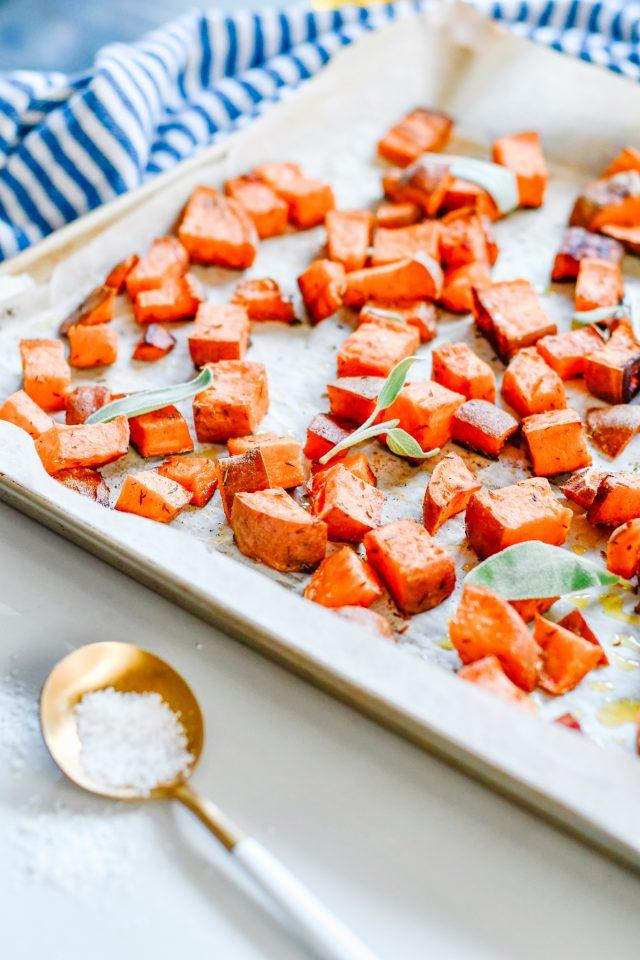 Roasted Sheet Pan Sweet Potatoes
