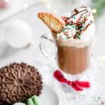 Affogato al Hot Cioccolato Italian dessert