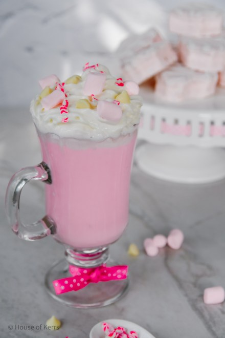 Pink White Hot Chocolate Recipe How-To