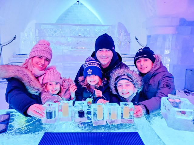 Don't leave without a beverage from the Ice Bar at Hotel de Glace!