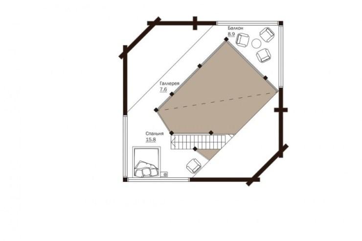 проект сглобяема къща от дървени трупи