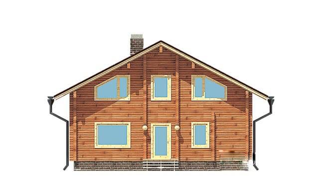 сглобяема къща от слепени греди