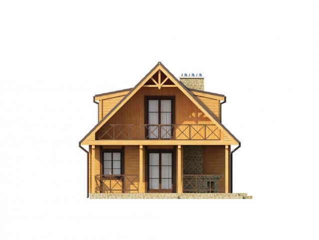 дървена къща от профилирани греди