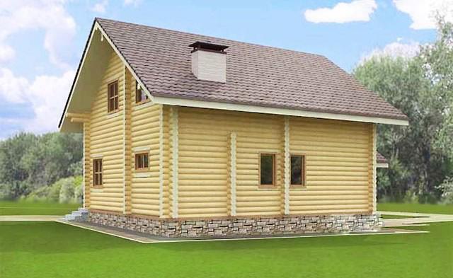 сглобяема дървена къща от цилиндровани трупи