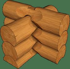 канадска сглобка на ръчно обработени дървени трупи