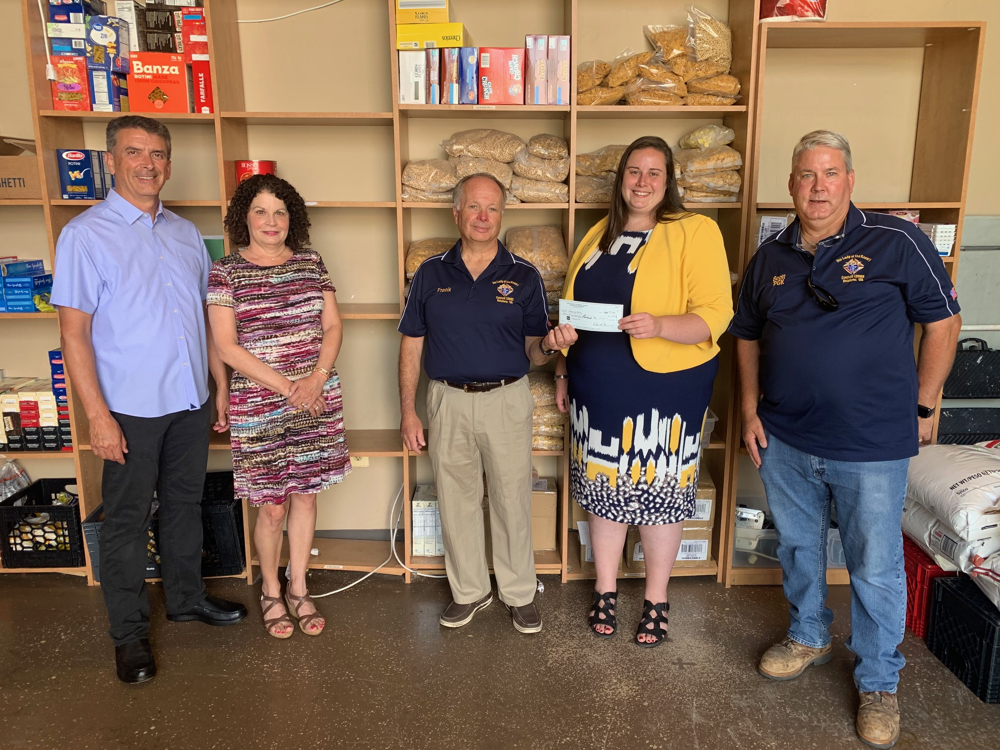 Knights fund new fridge for Manassas food pantry