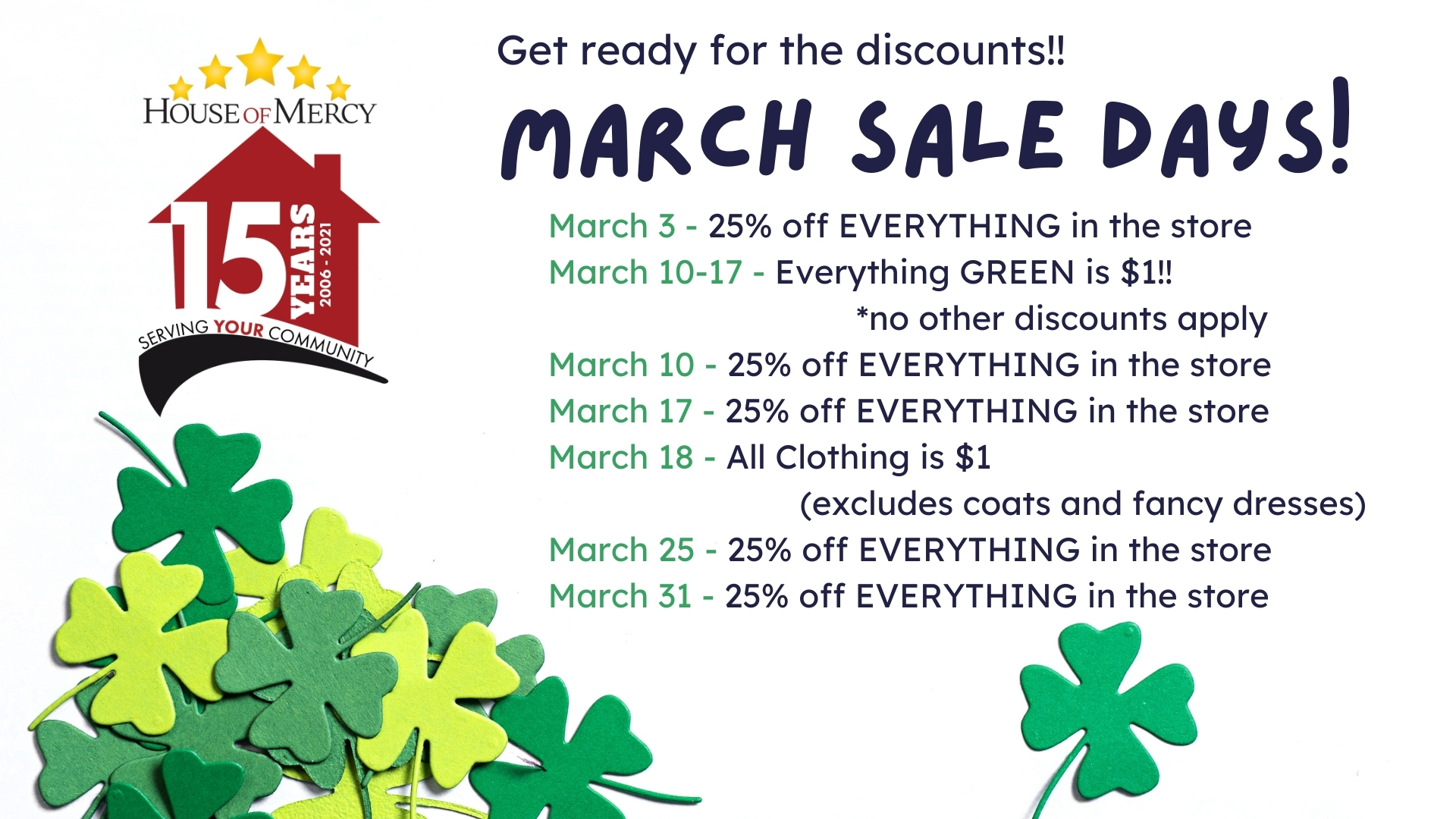 March Sale Days!