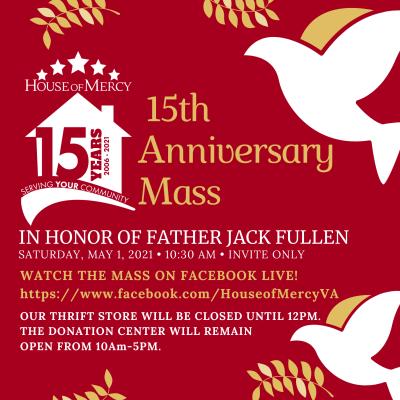 Anniversary Mass Announcement