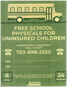 Free School Physicals