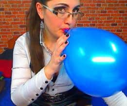 balloon blowing girl- fetish
