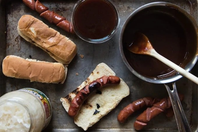 "Never overlook the humble hot dog again in favor of more ""grown-up"" fare with this sweet & sticky copycat J Dawgs hot dog sauce."