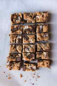 S'mores Bars are everybody's favorite campfire treat except in bar form and without the camping! Gooey marshmallows, buttery graham cracker crust, and melty chocolate, all in a wonderful cookie bar that you won't be able to stop eating!