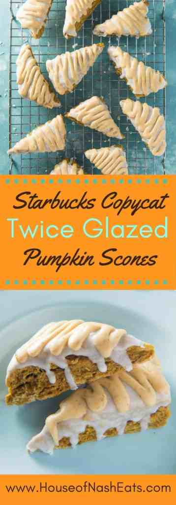 Tender, perfectly spiced and twice glazed pumpkin scones are my favorite fall treat! This much loved Starbucks copycat recipe is one I look forward to every year and make as soon as we start waking up to a chill in the air.
