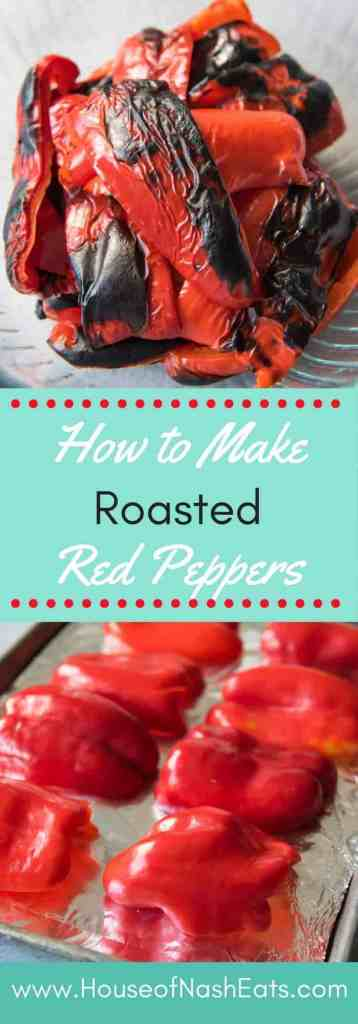 Roasted red peppers are not only wonderfully sweet, rich and incredibly flavorful, but they add wonderful color and beauty to many dishes and sauces. They are super easy to make at home instead of spending a fortune on the bottled ones you get at the supermarket.