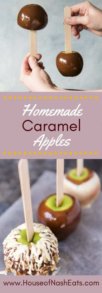 Gourmet Homemade Caramel Apples are so easy and fun to make! When the sweet, buttery caramel gets paired with crisp, tart apples, and then topped with as many crunchy, chewy, nutty or crispy toppings as you want, you will have confection perfection! Great for a DIY gift or party favor!