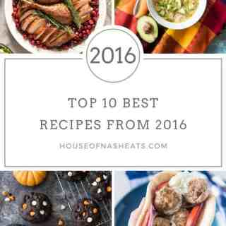 The year is wrapping up but before it does, I want to share the 10 most popular recipes from House of Nash Eats for 2016! These fan favorites include delicious dinner ideas, yummy desserts, a Whole 30 compliant soup that I LOVE, some holiday fare, a copycat recipe from one of our favorite restaurants and even a tutorial!