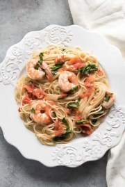 angel hair pasta with shrimp tomatoes