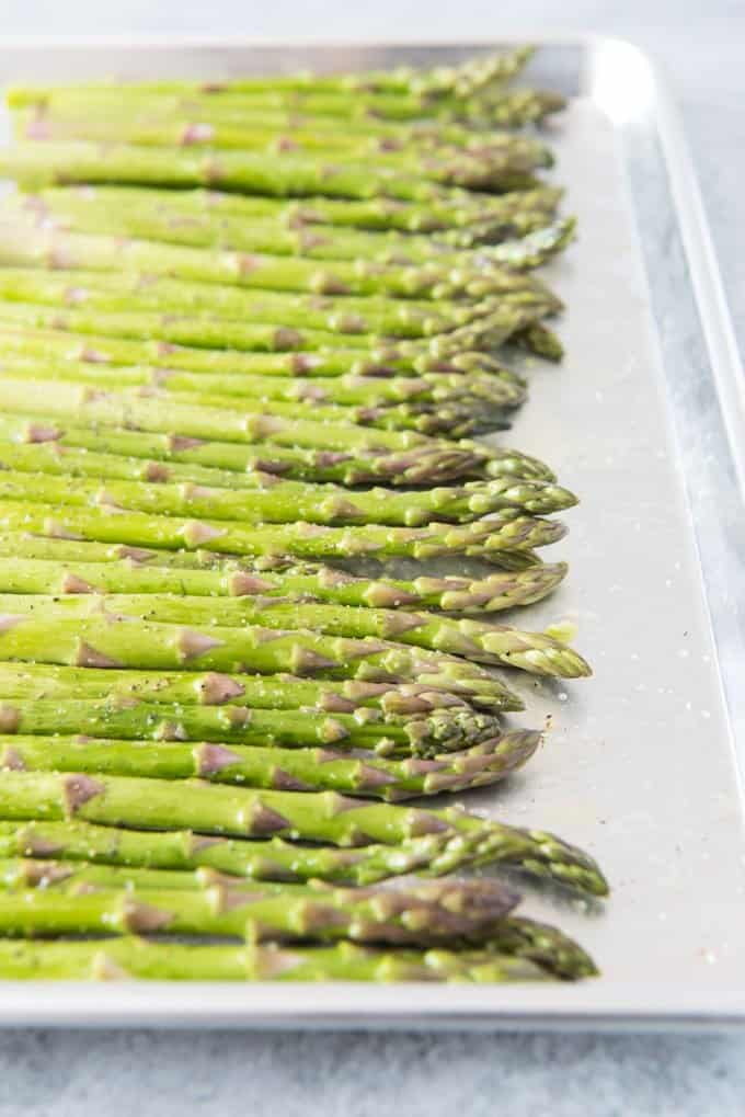 Oven Roasted Asparagus with Garlic, Parmesan, & Lemon ...