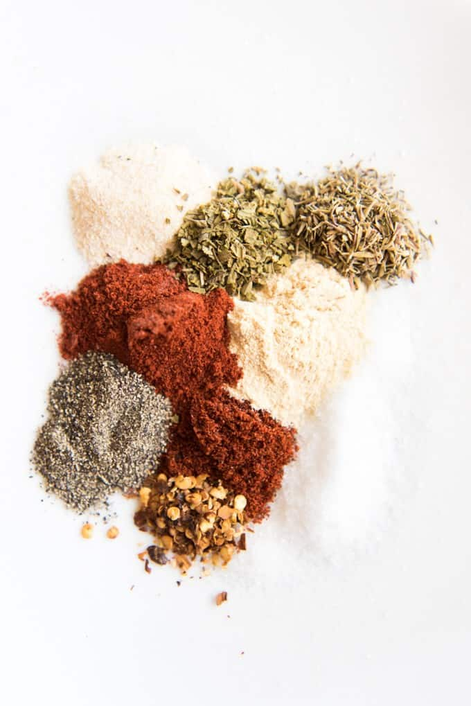 Use this simple Grilled Cajun Chicken Dry Rub Seasoning to spice up your weeknight chicken dinner routine! It adds mild heat and loads of flavor to everything from chicken, fish, or shrimp to veggies, potatoes, mayo and dressings!