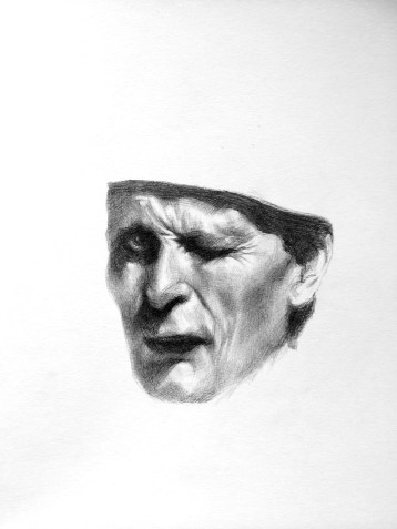 Biro portrait on paper, A4 (© PANG - All rights reserved)