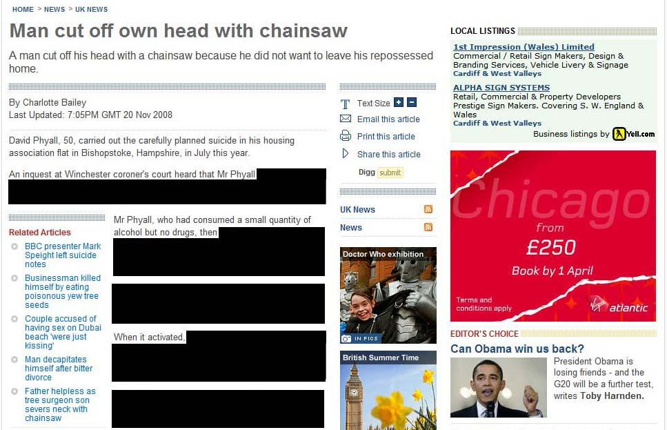Screengrab 28 March 2009