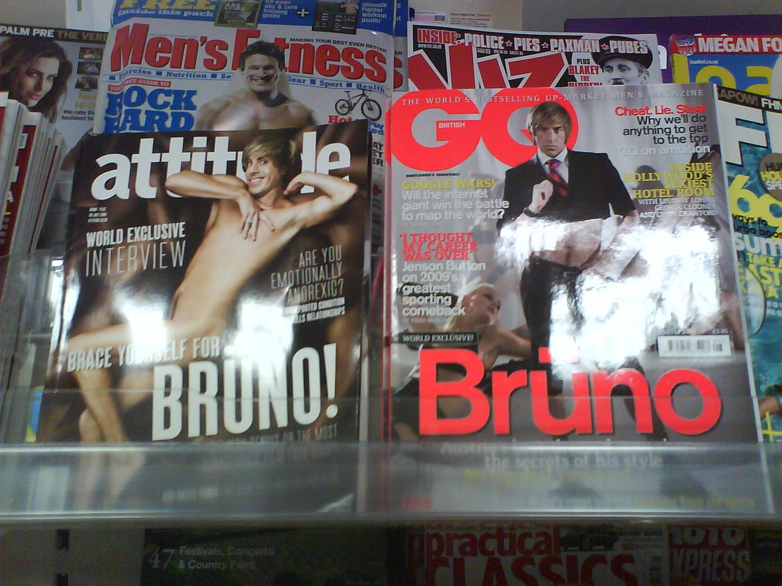 Attitude GQ Bruno covers