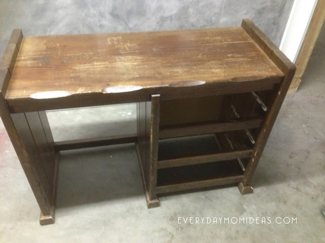 Vintage DIY desk makeover project