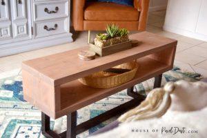 Elegant DIY coffee table woodworking